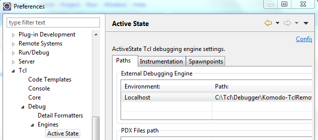 configure debugger with eclipse