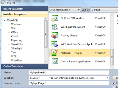 notepad++ plugin in visual studio